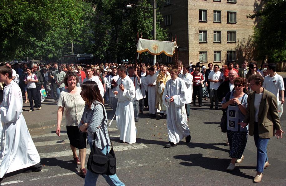 Процессия Corpus Domini прошла по улицам Москвы